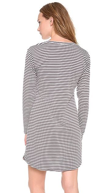 Calvin Klein Underwear Cotton Long Sleeve Nightshirt