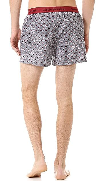 Calvin Klein Underwear Woven Slim Fit Boxers