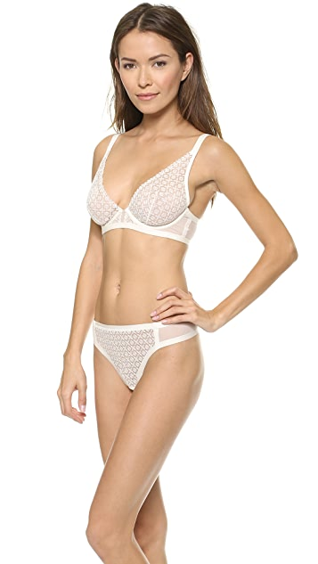 Calvin Klein Underwear Longline Plunge Bra