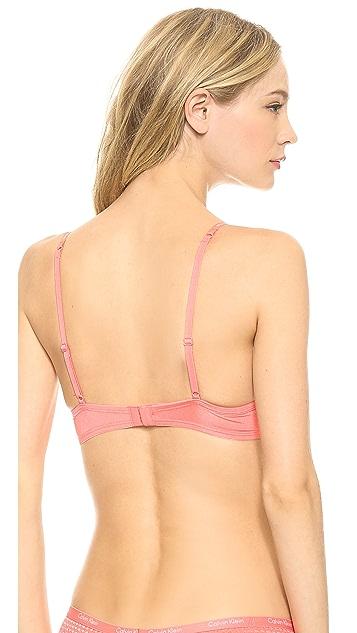 Calvin Klein Underwear Fashion Microfiber Sensual Balconette Bra