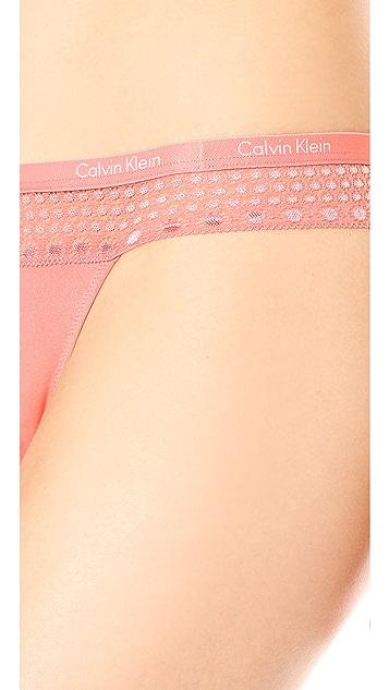 Calvin Klein Underwear Fashion Microfiber Thong