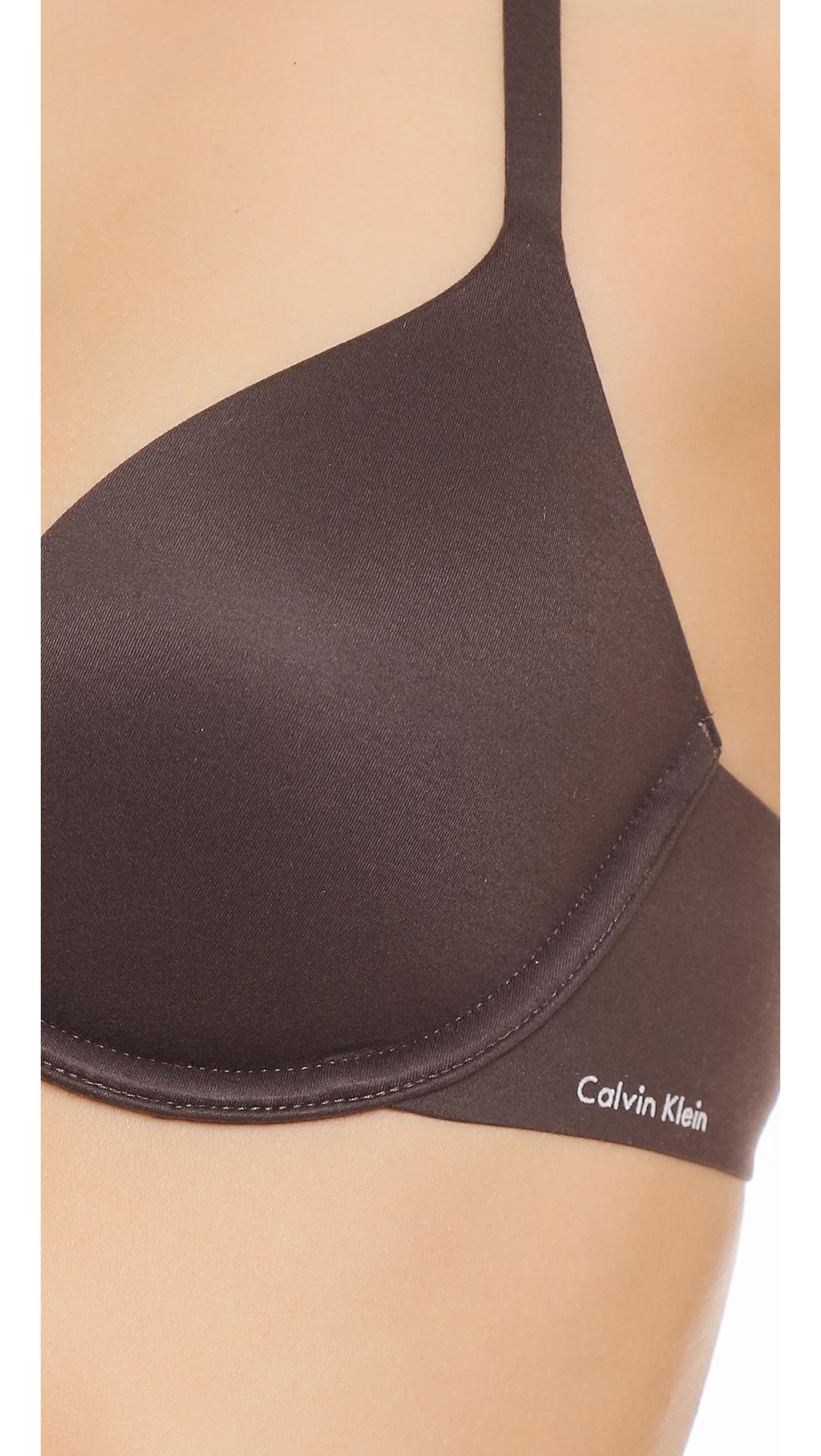 Kollette calvin klein underwear perfectly fit racer back for Racerback t shirt bra