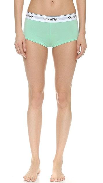 Calvin Klein Underwear Современные трусики-шорты из хлопка