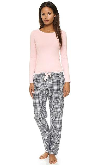 ed25183225b Flannel Mix Pajama Set