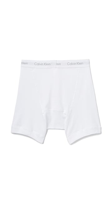 Calvin Klein Underwear Cotton Classic 3 Pack Button Fly Boxer Briefs