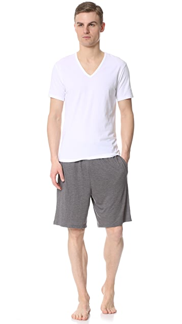 Calvin Klein Underwear CK 2 Pack Modern Cotton Stretch V Neck Tee