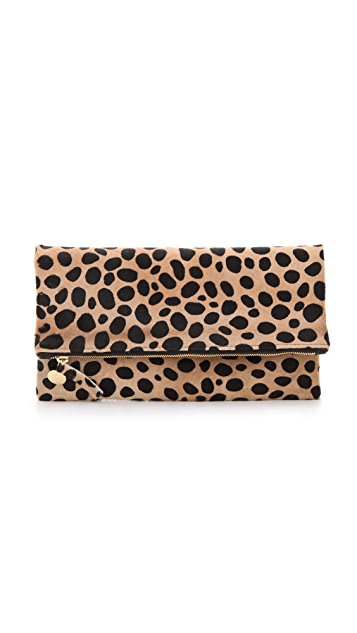 5022ce849911 Clare V. Fold Over Haircalf Clutch | SHOPBOP