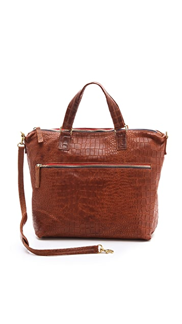 Clare V. Besace Embossed Bag