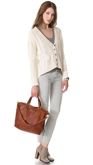 Clare V. Besace Embossed Bag