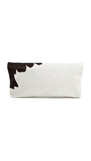 Clare V. Haircalf Fold Over Clutch