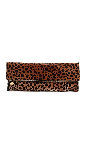 Clare V. Oversized Haircalf Clutch