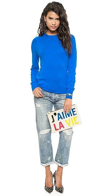 Clare V. J'aime La Vie Clutch
