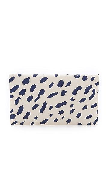 Clare V. Jaguar Print Fold Over Clutch