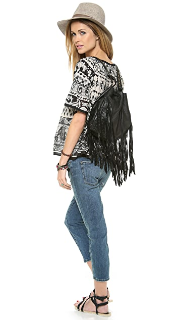 Cleobella Fringe Backpack