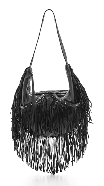 Cleobella Studded Sydney Fringe Shoulder Bag