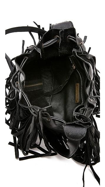 Cleobella Vanna Fringe Bucket Bag