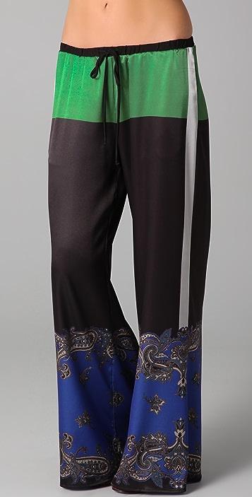 Clover Canyon Colorblock Paisley Pants