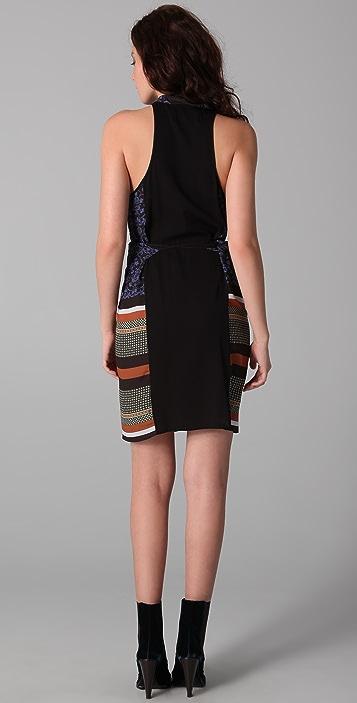 Clover Canyon Foulard Print Wrap Dress