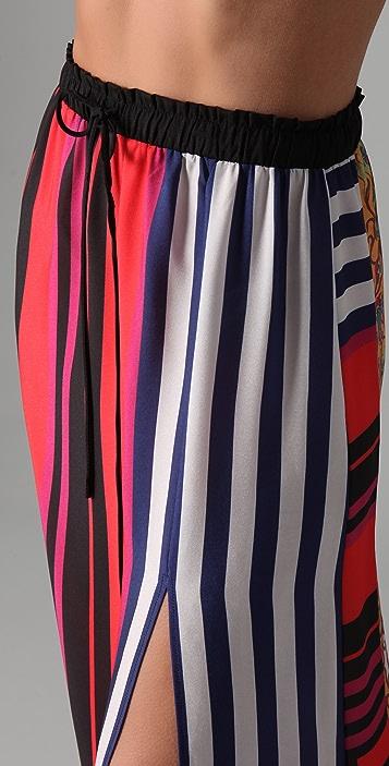 Clover Canyon Bali Stripe Printed Skirt