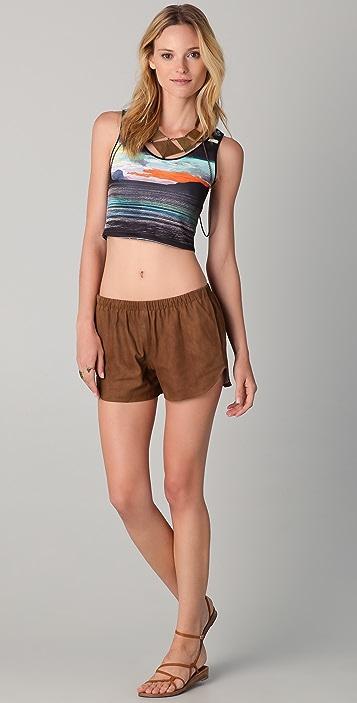 Clover Canyon Suede Shorts