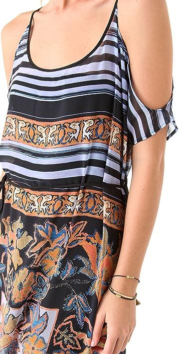 Clover Canyon Barcode Floral Maxi Dress