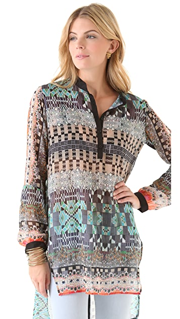 Clover Canyon Jeweled Tapestry Blouse