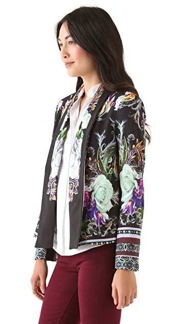 Clover Canyon Baroque Rose Scarf Blazer