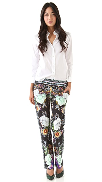 Clover Canyon Baroque Rose Scarf Pants