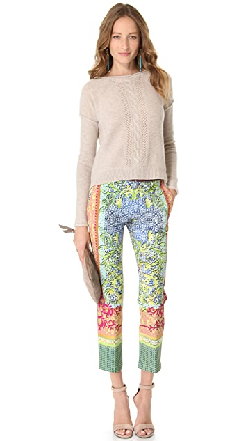 Clover Canyon Filigree Scarf Crop Pants