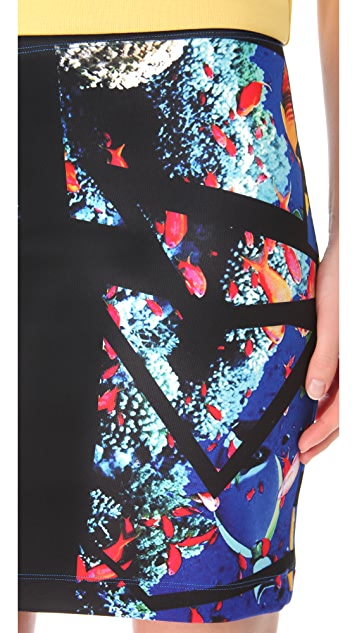 Clover Canyon Aquarium Puzzle Neoprene Skirt