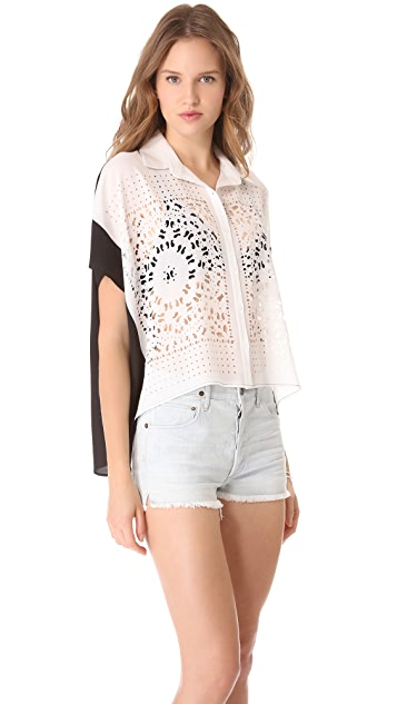 Clover Canyon Laser Button Down Top