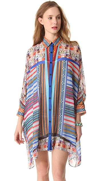 Clover Canyon Woven Pesos Shirtdress
