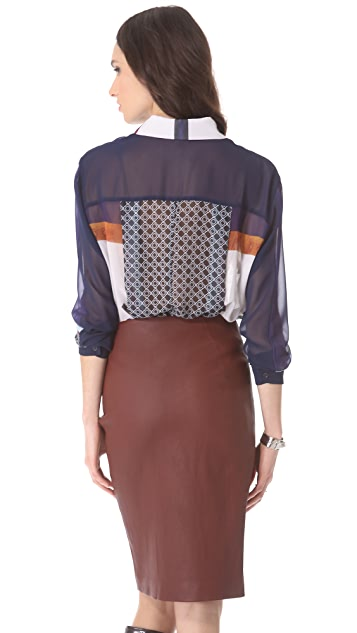 Clover Canyon Lotus Temple Collar Top