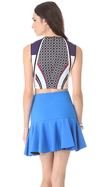 Clover Canyon Lotus Temple Crop Top