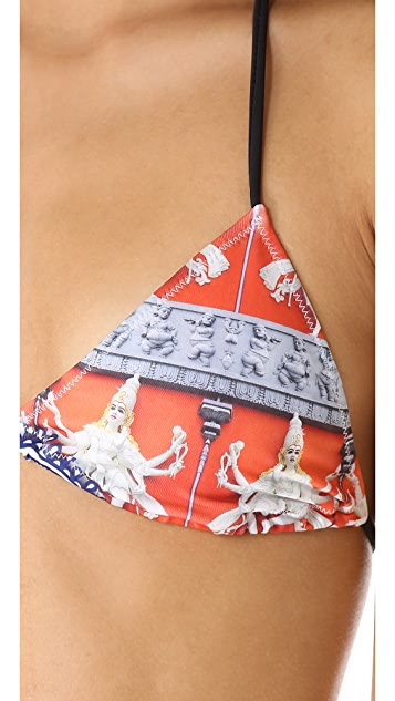 Clover Canyon Henna Bikini Top