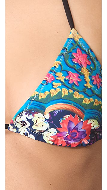 Clover Canyon Flower Archway Bikini Top