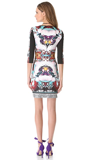 Clover Canyon Royal Horses Pencil Dress