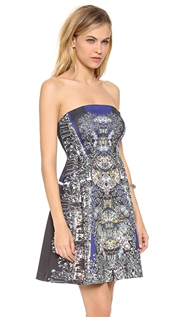Clover Canyon Russian Enamel Strapless Dress