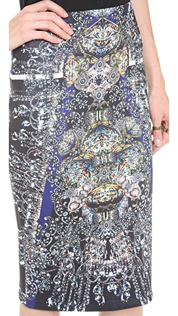 Clover Canyon Russian Enamel Pencil Skirt
