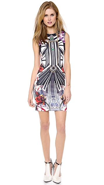 Clover Canyon Deco City Neoprene Dress