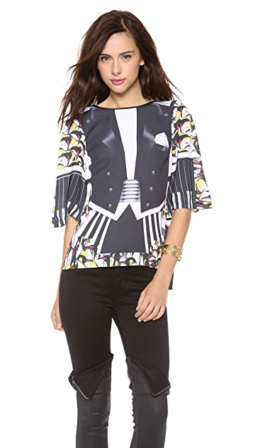 Clover Canyon Black Tie Event Blouse