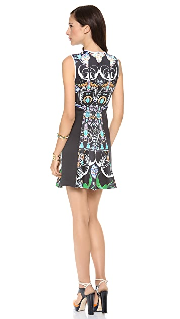 Clover Canyon Gold Panther Neoprene Dress