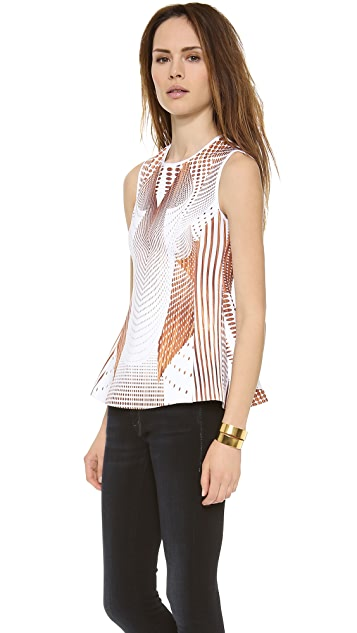 Clover Canyon Torqued Wells Neoprene Top