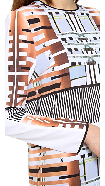 Clover Canyon Woven Metal Long Sleeve Dress