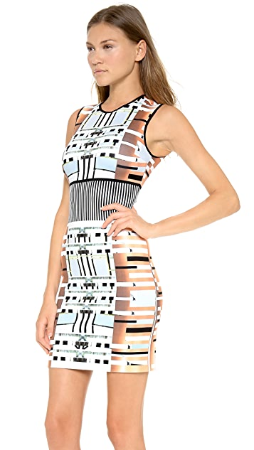 Clover Canyon Woven Metal Sleeveless Dress