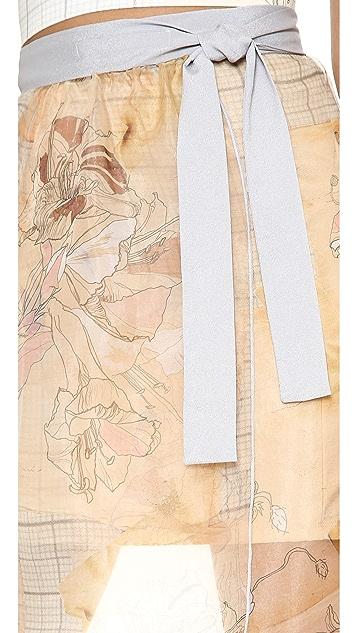 Clover Canyon Botanical Graph Tie Waist Skirt