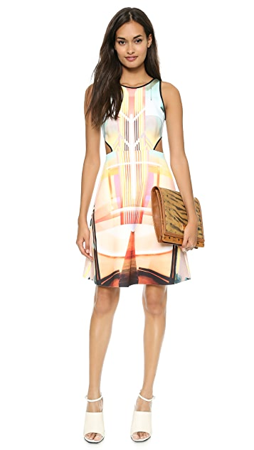 Clover Canyon Fluorescent Lights Cutout Dress