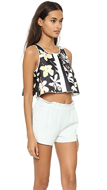 Clover Canyon Garden Plaid Crop Top
