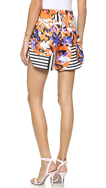 Clover Canyon Floral Discs Shorts