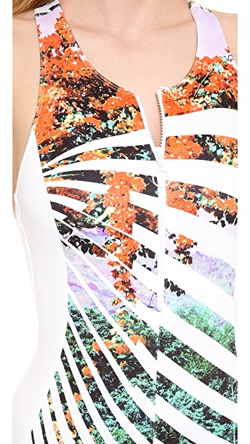 Clover Canyon Ribbon Landscape One Piece Swimsuit